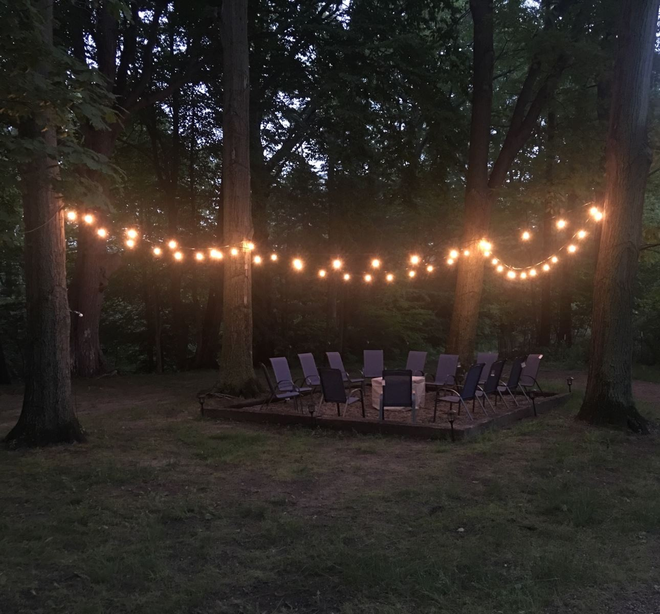Magical new fire pit area for 2018