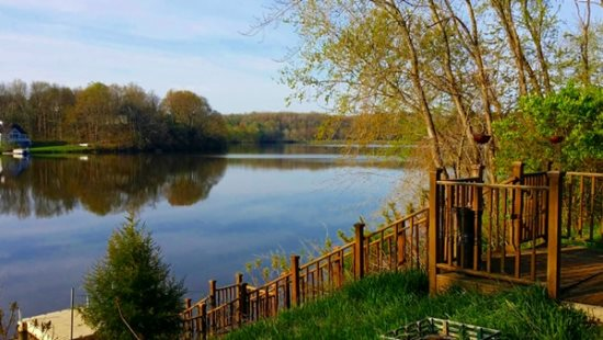 Enjoy this amazing view with private access to Lake Allegan